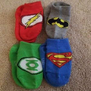 DC socks size 12-24 months. Never worn